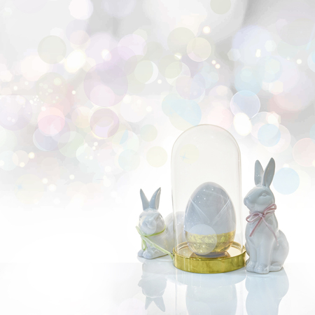 Happy Easter .Easter holiday concept luxury background Archivio Fotografico
