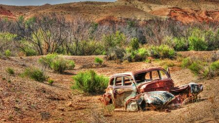 rusty car: Old Clunker Stock Photo