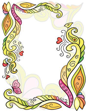 Patrón de flores de color de hermoso diseño
