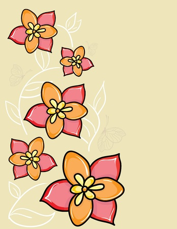 Beautiful card: vector flower background Illustration