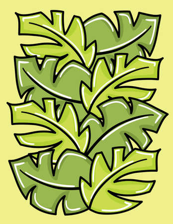 Vector green leaves for your design