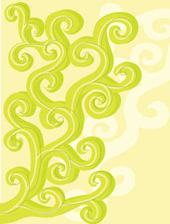 Abstract, vector, floral curls  Background Stock Vector - 12763750