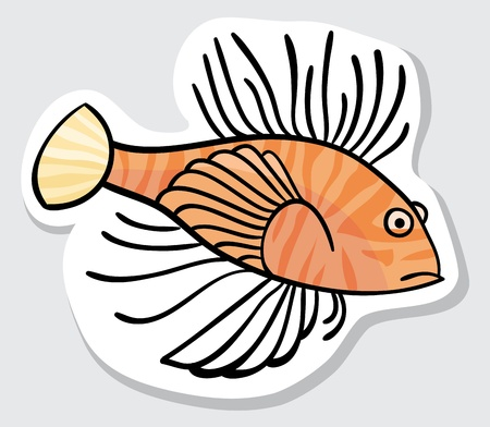 lionfish: Vector color fish for your design  Sticker  Lion fish