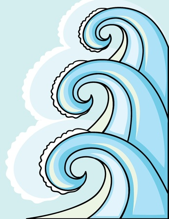 The big waves in the sea for your design
