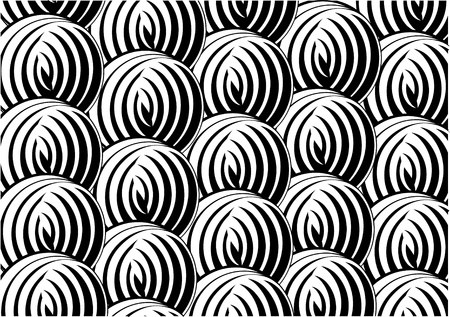 Black and white pattern in a circle  Background  Texture  Design  Ying yang  Stock Vector - 13171582