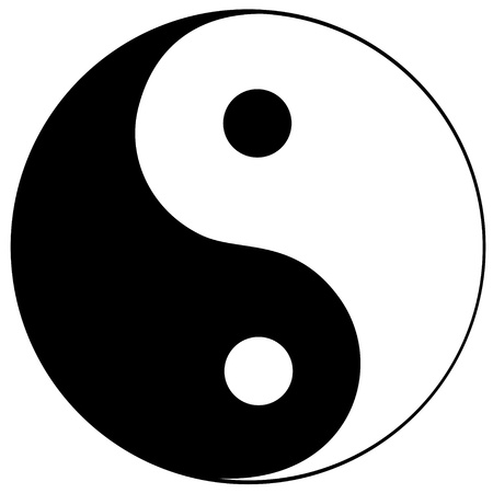 man vrouw symbool: Ying yang symbool van harmonie en balans
