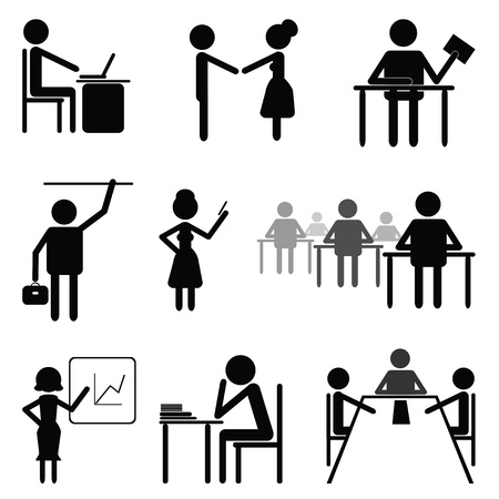 Set sign and symbol on theme business and office people  Template Stock Vector - 13171589