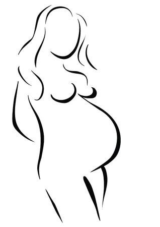 животик: Беременная женщина ждет ребенка