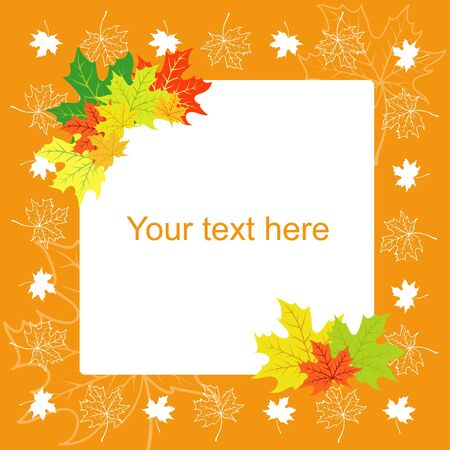 Autumn a card with maple leaflets Vector