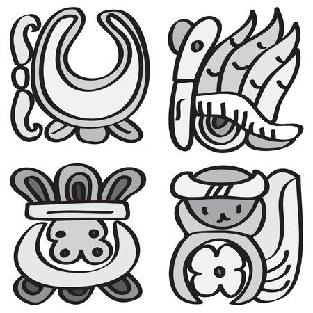 folktale: Adorno en el estilo de los s�mbolos del calendario maya Vectores