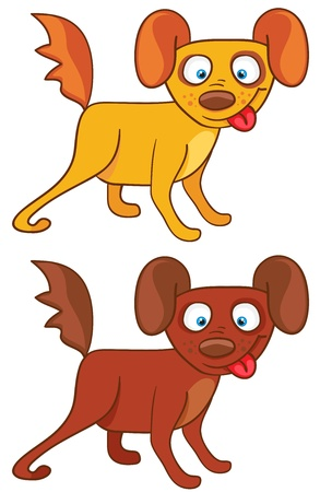 Dogs in cartoon style on a white background