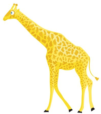 Cartoon giraffe  Illustration of little funny animal