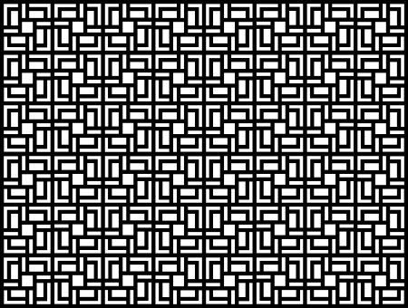 Seamless geometric pattern in op art design  Black and white vector illustration  Square  Vector