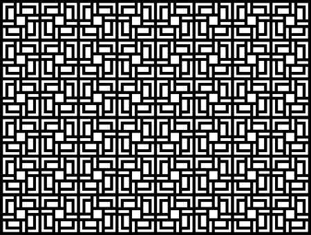 modular: Seamless geometric pattern in op art design  Black and white vector illustration  Square  Illustration