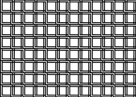 Seamless geometric pattern in op art design  Black and white vector illustration  Square  Illustration