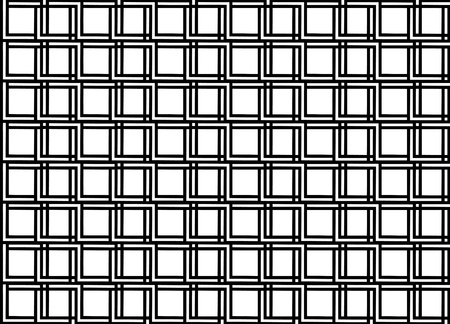 Seamless geometric pattern in op art design  Black and white vector illustration  Square  Illustration