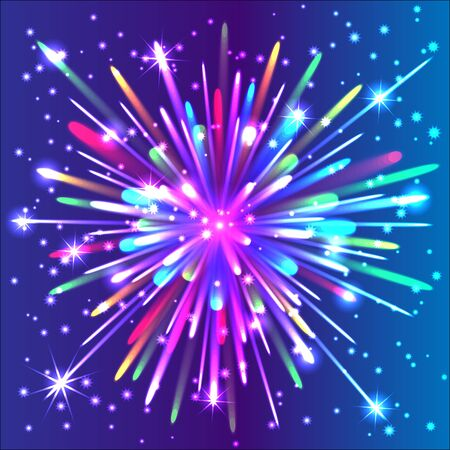 Beautiful isolated vector firework  Salute  Illustration