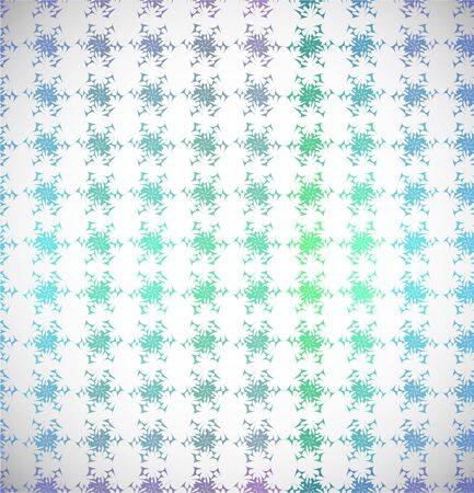 Seamless snowflakes winter background  Color patern  Illustration