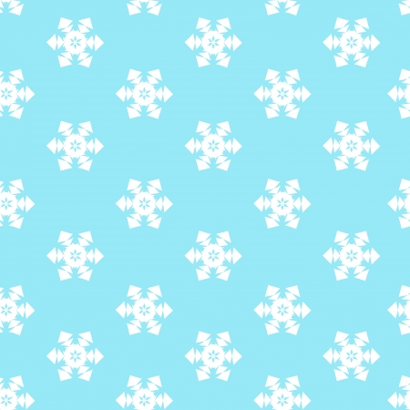 Seamless winter background with snow  Blue pattern  Illustration