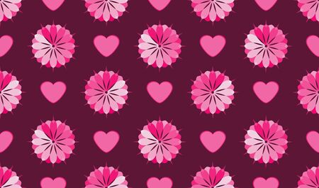 Flower seamless pattern background  Pink