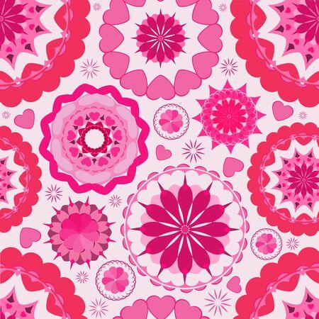 Flower seamless pattern background  Pink  Wallpaper garden Stock Vector - 17441738