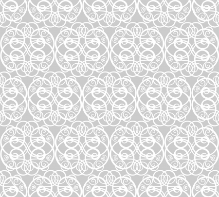 seamless pattern with abstract curls Vector