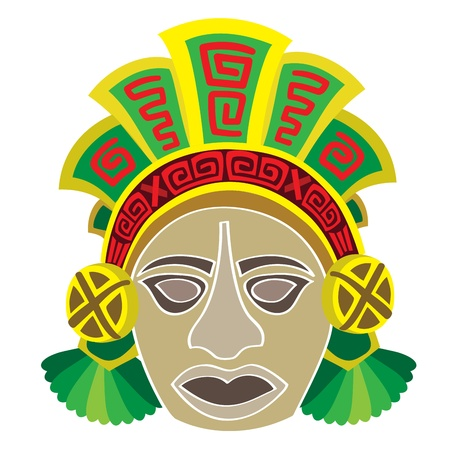Mask in style of the Maya  Head of the person  Vector