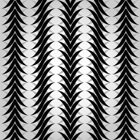 Seamless geometric pattern with black and white waves
