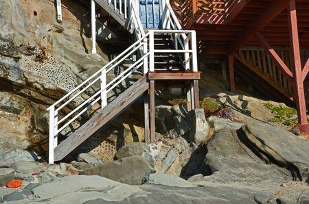 Steps to the beach Stockfoto