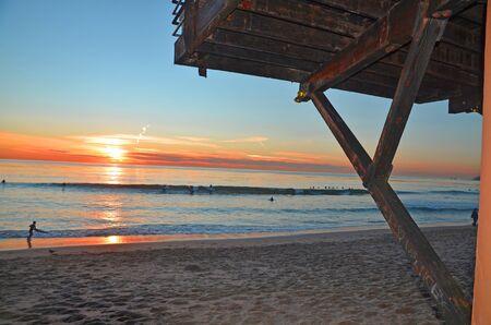 beach sunset laguna beach