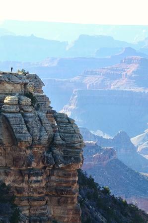 Hiker at Grand Canyon Stockfoto