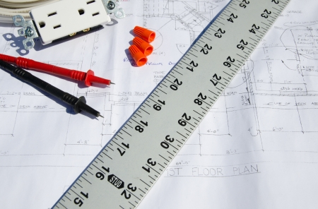 Construction Plans with electrical components