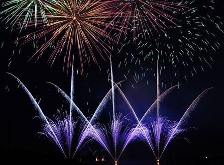 fireworks at festival in calgary Banco de Imagens