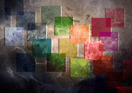 abstract art of squares