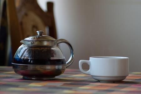metal base: White mug and transparent Maker