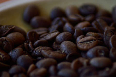 medium close up: coffee beans