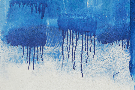 graffito: background wall painted with a mural brushstrokes dates roller and sagging blue
