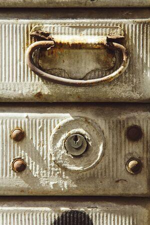 damper: Vintage background with damper handle and lock