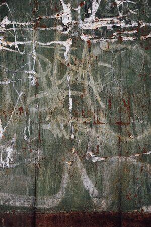 graffito: background vintage metal graffiti and rust Stock Photo