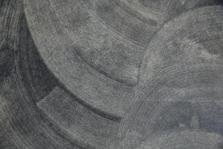 worked: Background steel wall that seems blackboard with chalk worked