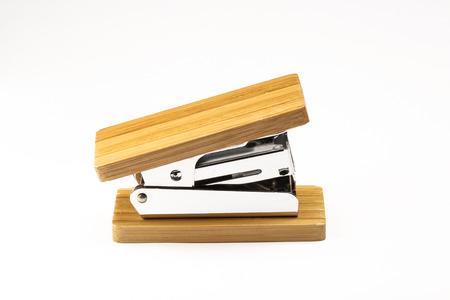 office stapler: Wooden stapler for office