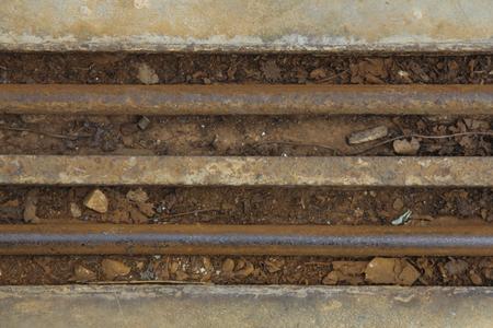 sliding door: Background grooves sliding door with rust