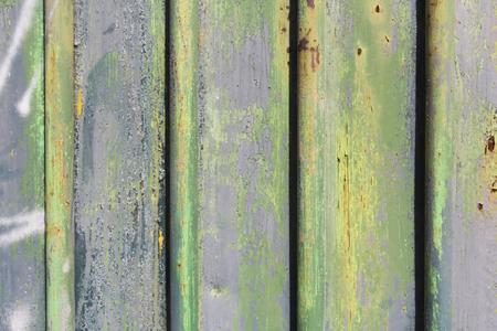 murals: Background sheet metal gate painted murals Stock Photo