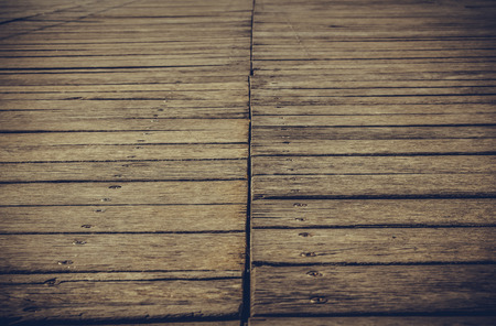 Background wooden walkway nails and parquet