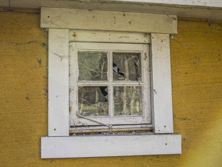 replaced: This window needs to be replaced and the spiders chased away.