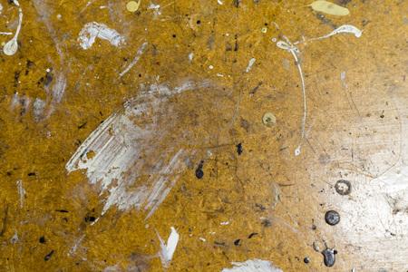 Paint on a workbench in the workshop Reklamní fotografie