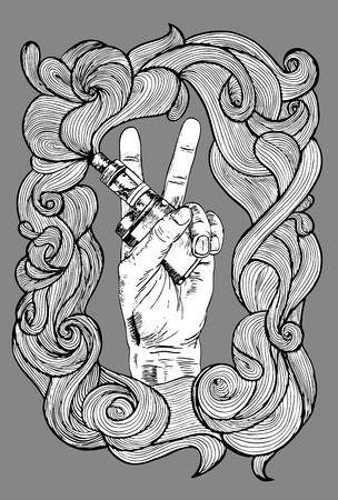 hand with e cigarette