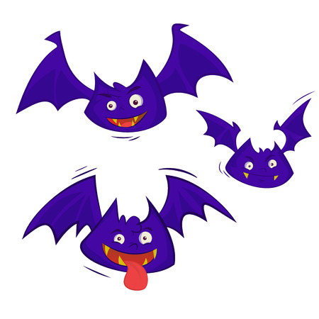 Set of 3 Bats isolated on a white background