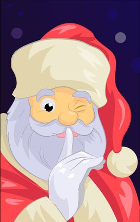 Santa Claus close up Stock Photo