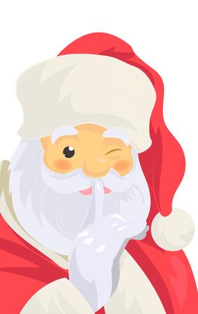 Santa Claus close up look. Illustration